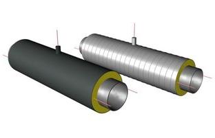 Элемент трубопровода с кабелем вывода в ППУ изоляции