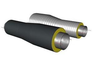 Переход трубопровода в ППУ изоляции